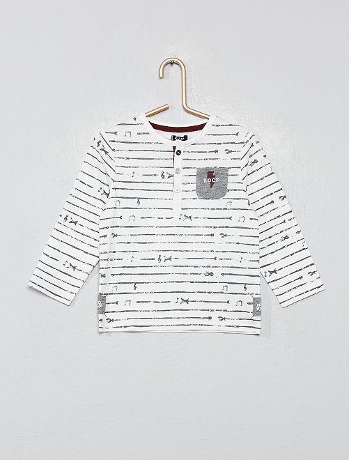 Camiseta 'rock'                             BLANCO