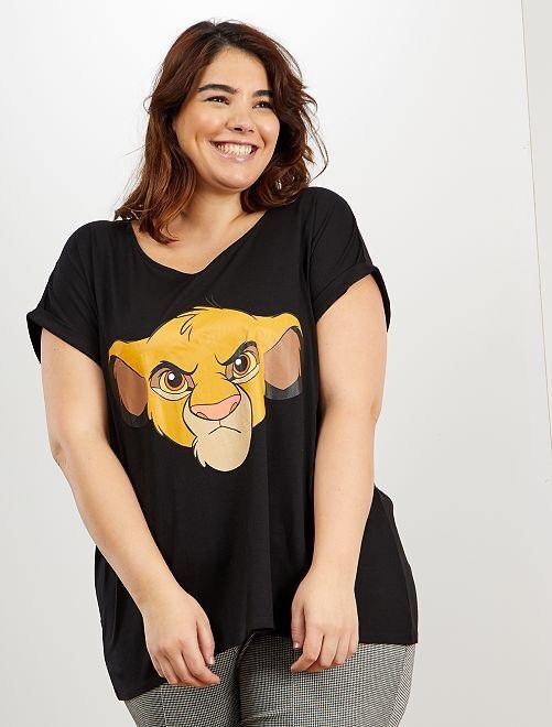 Camiseta 'Simba' de 'Disney'                                                                                                                 NEGRO