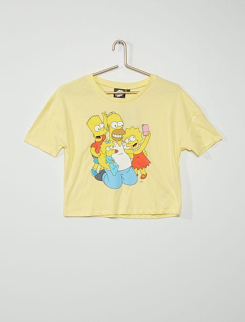 Camiseta 'Simpson'                             AMARILLO