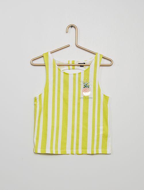 Camiseta sin mangas                                                                 AMARILLO