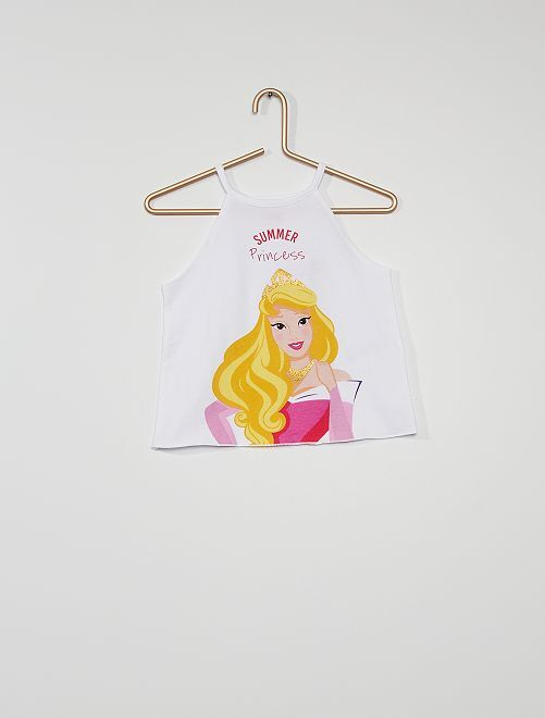 Camiseta sin mangas 'Aurora' 'Disney'                                                                 BLANCO