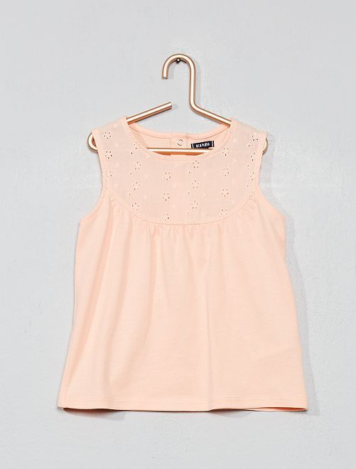 8e9e74552 Camiseta sin mangas con bordado inglés Bebé niña - ROJO - Kiabi - 4