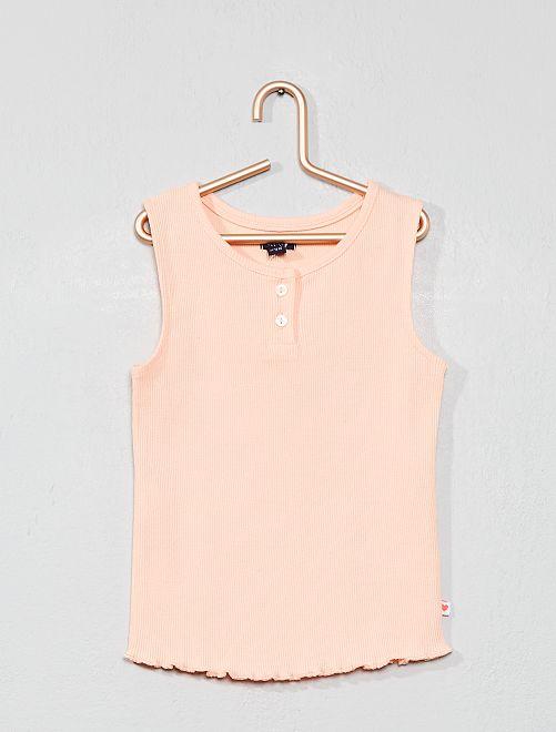 Camiseta sin mangas con cuello panadero                                                                             ROSA Bebé niña