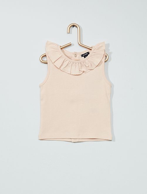 Camiseta sin mangas con gorguera                                                     ROSA