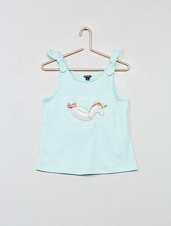 a4dc6e4c9 Camiseta sin mangas con lazos 'unicornio' - Kiabi