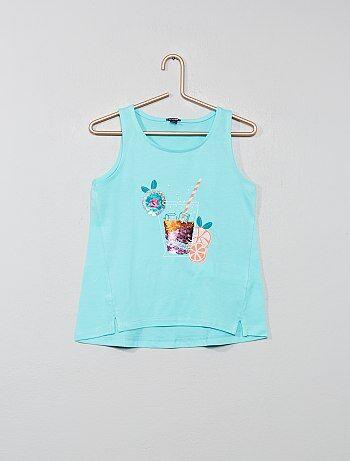 51134955f Camiseta sin mangas con lentejuelas reversibles - Kiabi