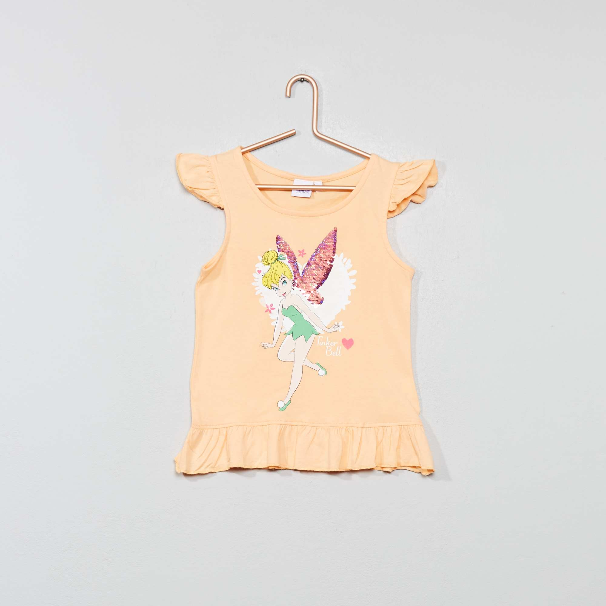 203747b84 Camiseta sin mangas con lentejuelas reversibles 'Campanilla' NARANJA Chica.  Loading zoom