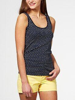 Camiseta sin mangas de algodón elástico