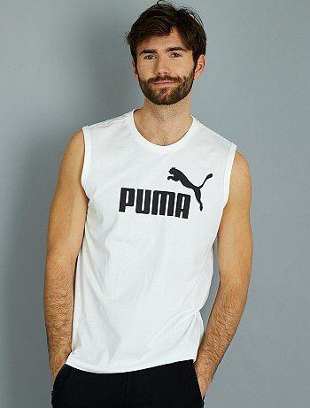 Camiseta sin mangas de algodón puro de 'Puma' - Kiabi