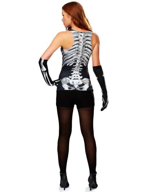 Camiseta sin mangas de esqueleto Mujer - negro/blanco - Kiabi - 10,00€
