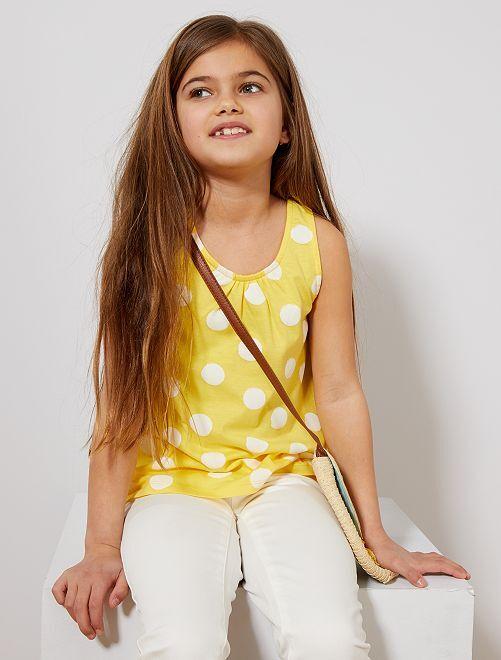 Camiseta sin mangas de 'lunares'                                                                                                     AMARILLO Chica