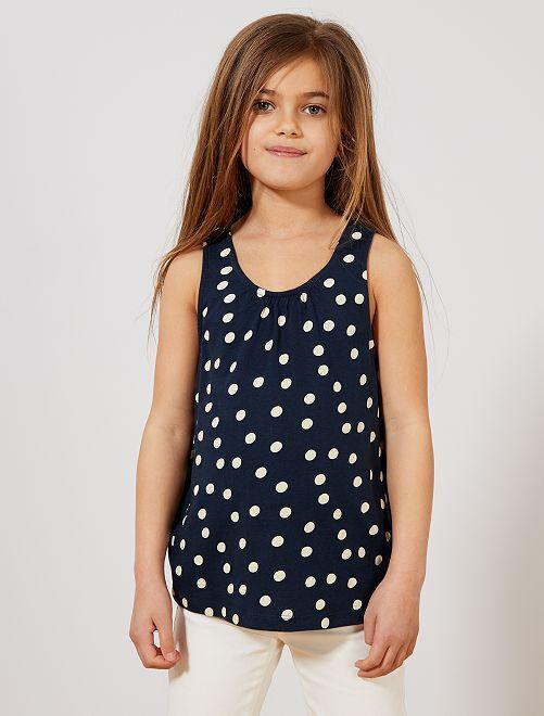 Camiseta sin mangas estampada 'unicornios'                                                                                             AZUL Chica