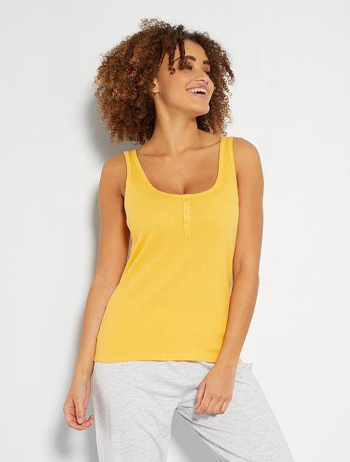 Camiseta sin mangas de pijama                                                                 amarillo crema