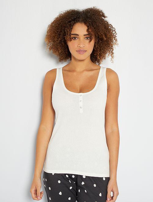 Camiseta sin mangas de pijama                                                                                 blanco nieve