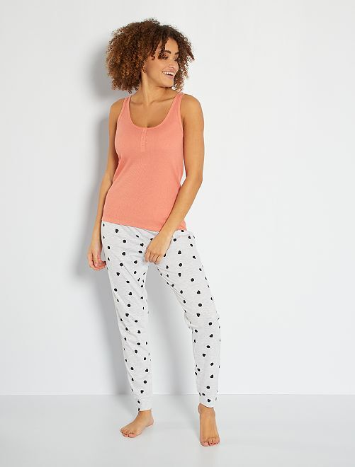 Camiseta sin mangas de pijama                                                                                         NARANJA