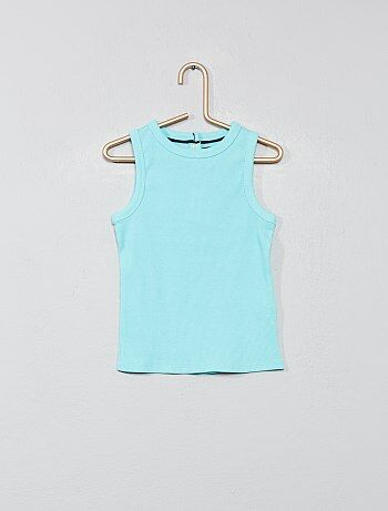 62a414efb33 Niño 0-36 meses - Camiseta sin mangas de punto de canalé - Kiabi