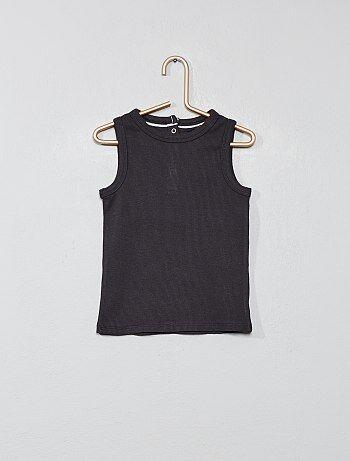 af6d65f01 Camiseta sin mangas de punto de canalé - Kiabi