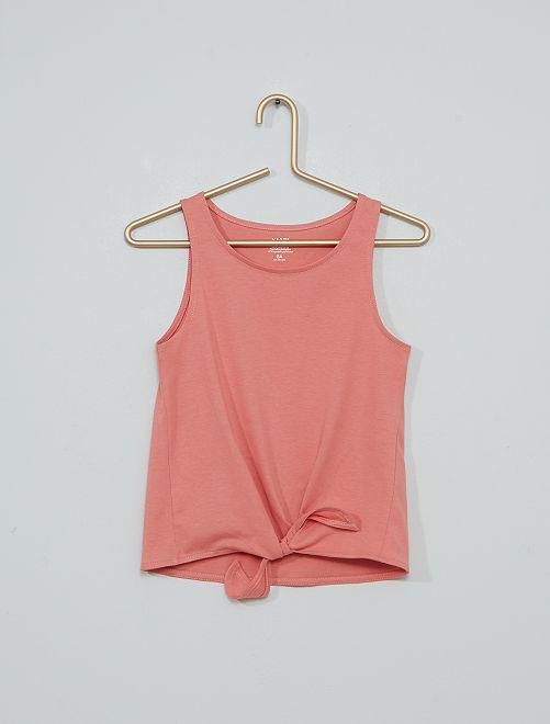 Camiseta sin mangas de punto                                         rosa