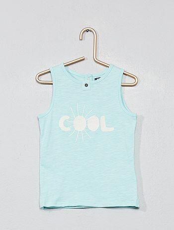 a22b0ffdb Niño 0-36 meses - Camiseta sin mangas estampada - Kiabi