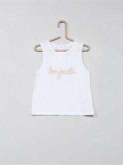 Camisetas - Camiseta sin mangas estampada - Kiabi