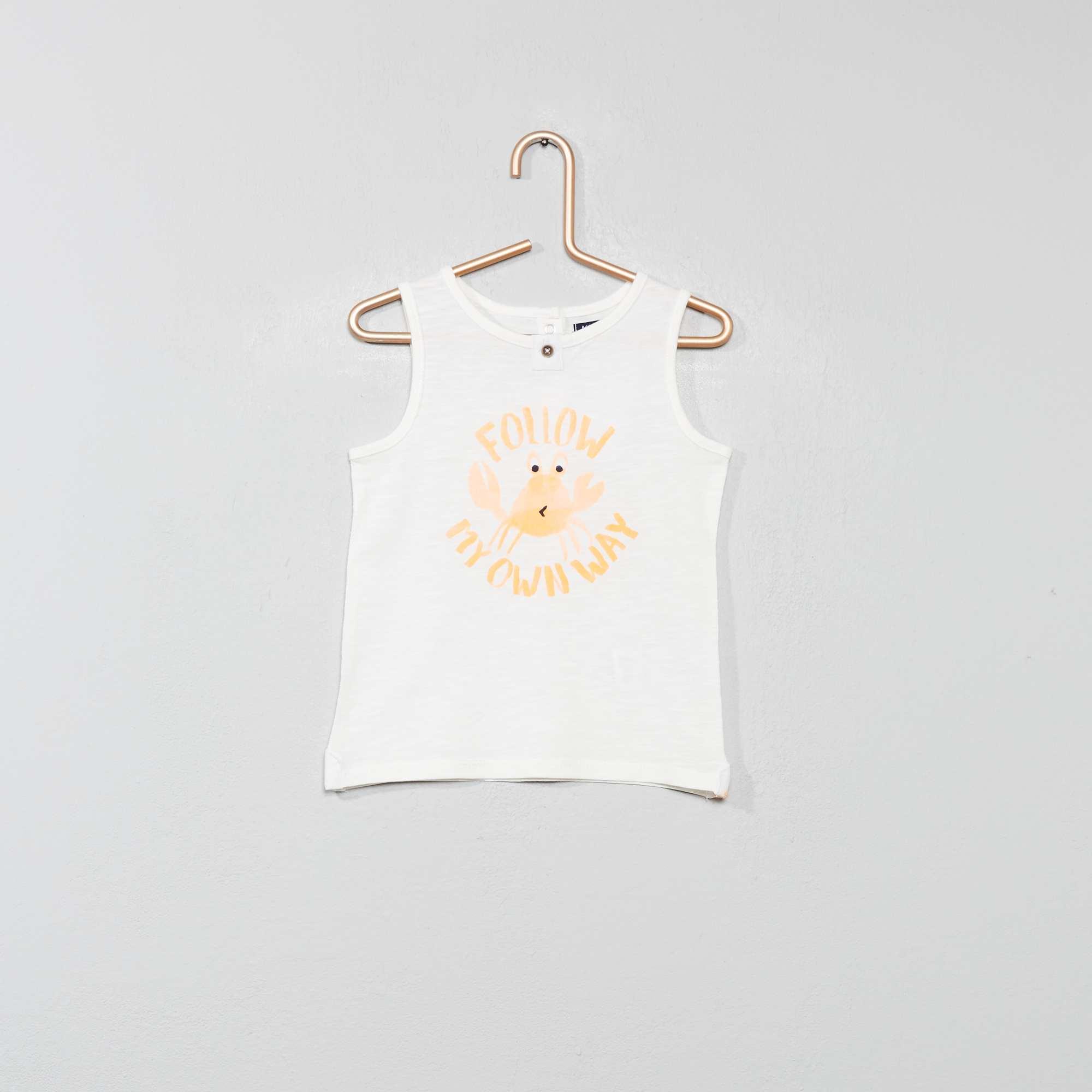 0a79b1c77 Camiseta sin mangas estampada BLANCO Bebé niño. Loading zoom. Haz clic en  la imagen para agrandar. zoom