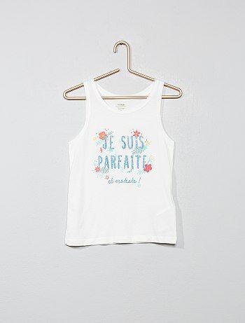 09619a6b0 Camiseta sin mangas estampada de algodón orgánico - Kiabi