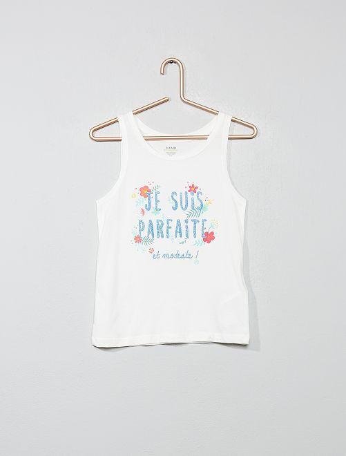 1c57133c7 Camiseta sin mangas estampada de algodón orgánico Chica - VERDE ...