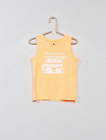 f7e57a2b4 Niño 0-36 meses - Camiseta sin mangas estampada  holiday  - Kiabi