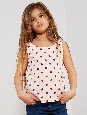 751d2925fe6 Camiseta sin mangas estampada 'lunares y corazones' - Kiabi