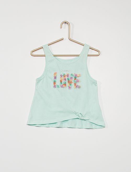 Camiseta sin mangas 'love'                                                                             AZUL