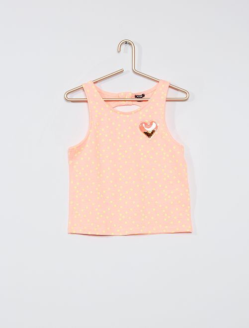 Camiseta sin mangas                                         ROSA