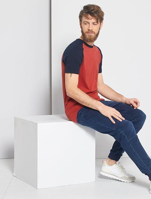 Camiseta slim bicolor 'Eco-concepción'                                                                             AZUL