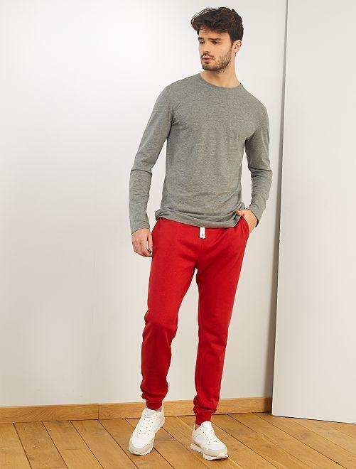 Camiseta slim de algodón puro +1,90 m                     GRIS