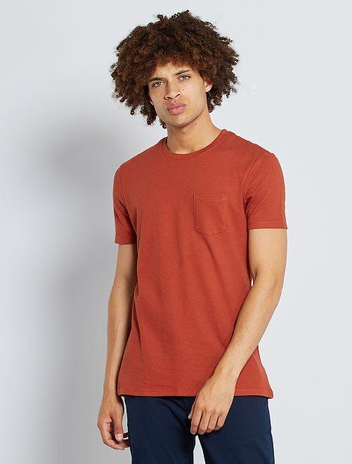 Camiseta slim 'eco-concepción'                                                     naranja oscuro