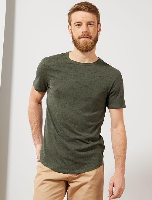 Camiseta slim Eco concepción                     VERDE