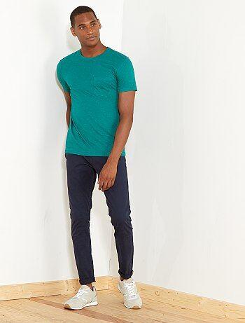 Camiseta slim moteada - Kiabi