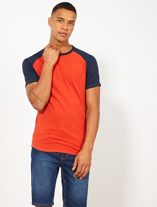 Camiseta slim raglán Ecodiseño                     AZUL