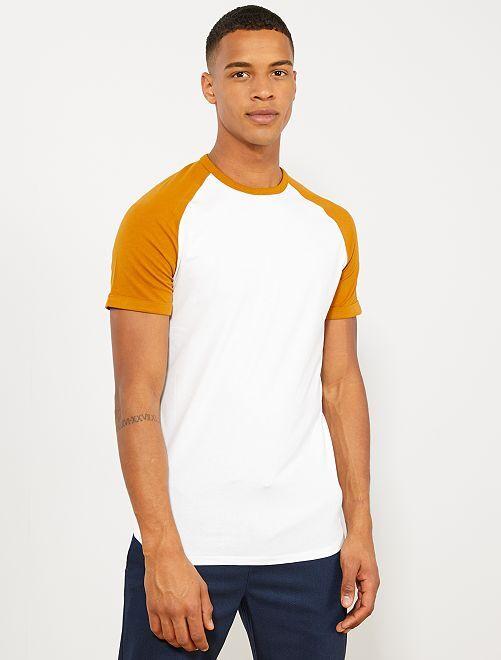 Camiseta slim raglán Ecodiseño                                         BLANCO Hombre