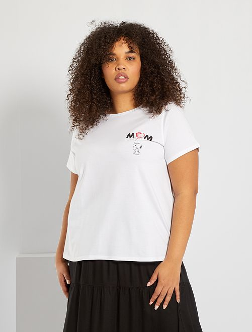 Camiseta 'Snoopy'                             blanco