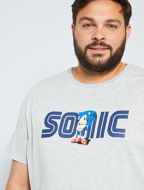 Camiseta 'Sonic'                             GRIS