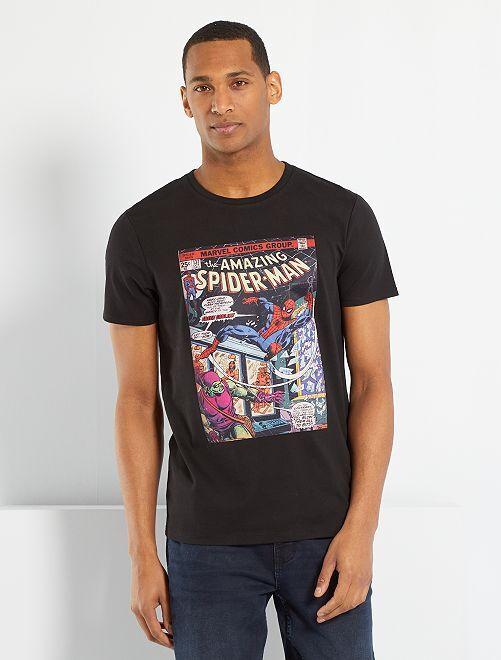 Camiseta 'Spider-Man'                             negro