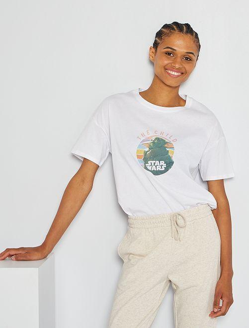 Camiseta 'Star Wars'                             BLANCO