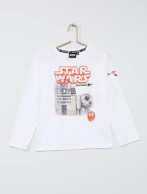 Camiseta 'Star Wars'                                         blanco