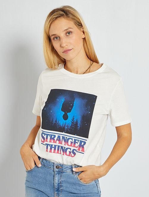 Camiseta 'Stranger Things'                             BLANCO