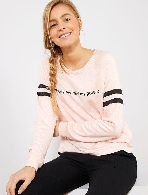 Camiseta suave estampada                                         ROSA