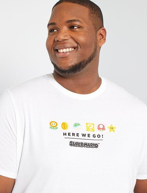Camiseta 'Super Mario'                             blanco