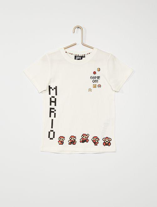 Camiseta 'Super Mario Bros'                             blanco nieve