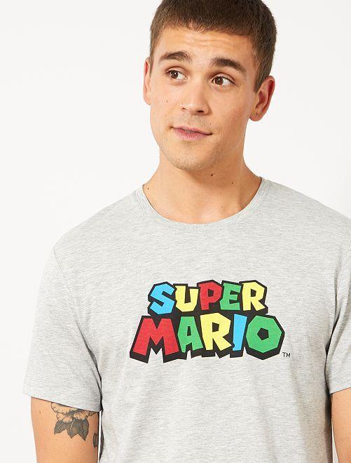 Camiseta 'Super Mario'                                         GRIS