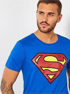 Camisetas azul - Camiseta 'Superman'