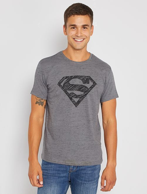 Camiseta 'Superman'                             gris/negro